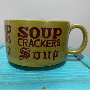 Vintage Made In Japan Soup Crackers Soup Mug